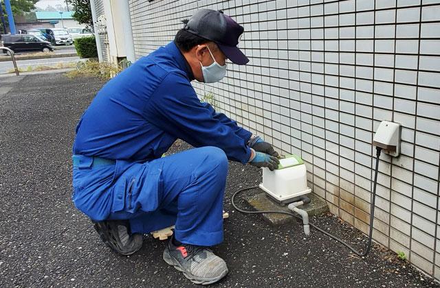浄化槽点検までの流れ ブロアーの清掃